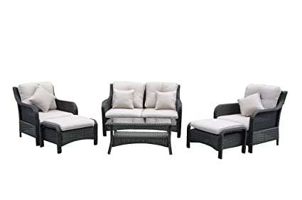 Image Unavailable - Amazon.com : Radeway 6-Piece Deep Seat Patio Furniture Sets Outdoor