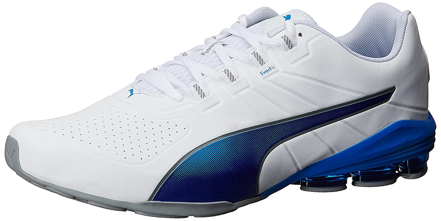 Puma Men's Voltage 180 SL Puma White, Quarry, Electric Blue and Lemonade  Running Shoes - 7 UK/India (40.5 EU): Buy Online at Low Prices in India -  Amazon.in
