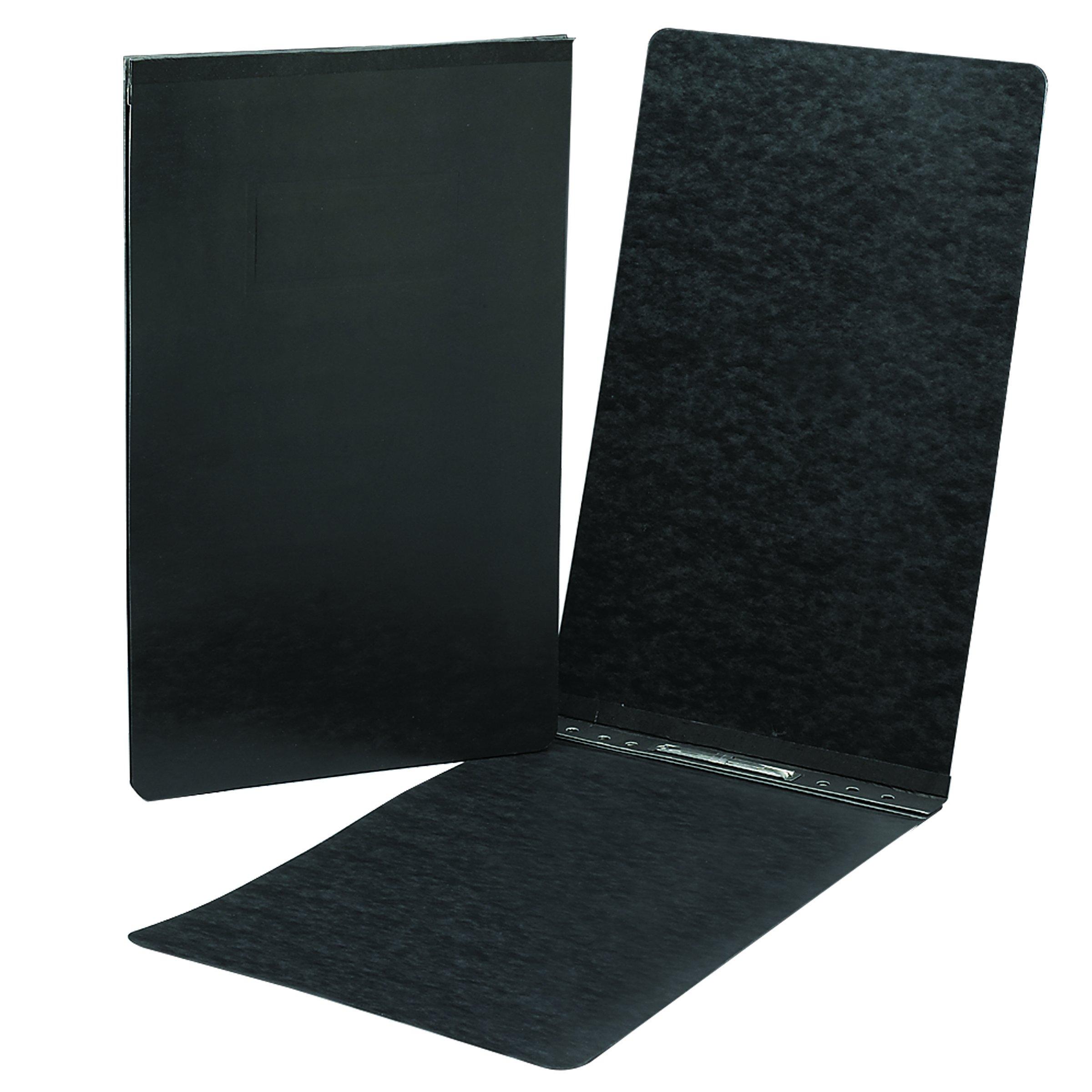 Smead PressGuard Report Cover, Metal Prong Top Fastener with Compressor, 2'' Capacity, Legal Size, Black, 25 per Box (81132)