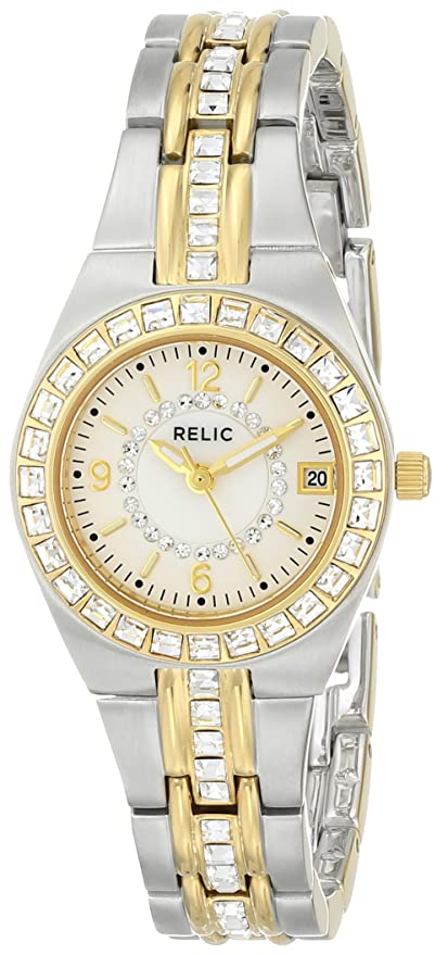 Amazon Relic Womens Zr11775 Queens Court Silver Gold Two