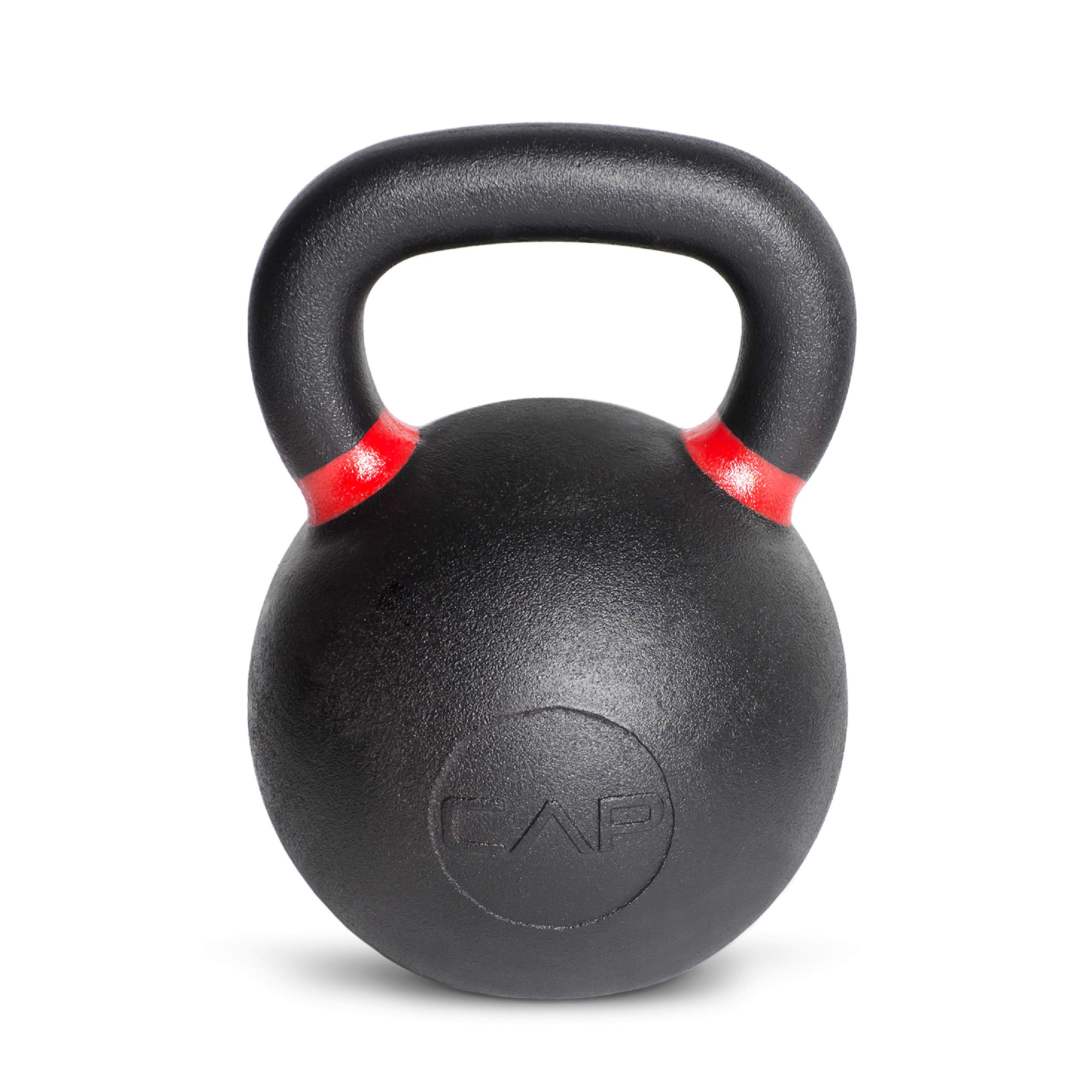 CAP Barbell Cast Iron Competition Kettlebell Weight, 70 Pound, Black/Red