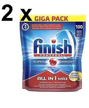 Finish Kit 2 paquetes Powerball Todo en Uno Max 100 tabs ...