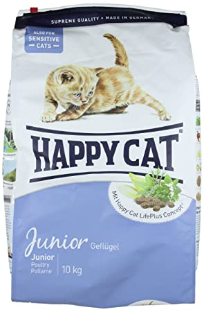 happy cat dry cat food junior chicken 10 kg amazon co uk pet supplies