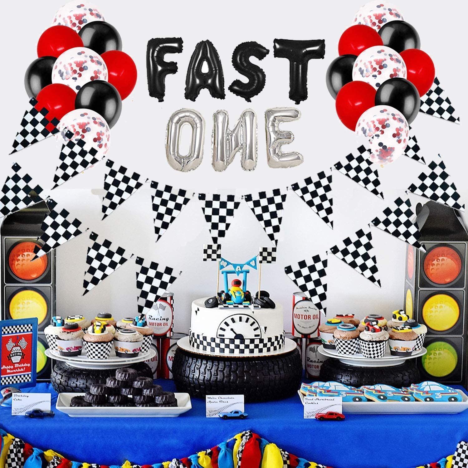 race car 1st birthday race car baby shower race car birthday party I am two banner I am One race car banner race car high chair banner