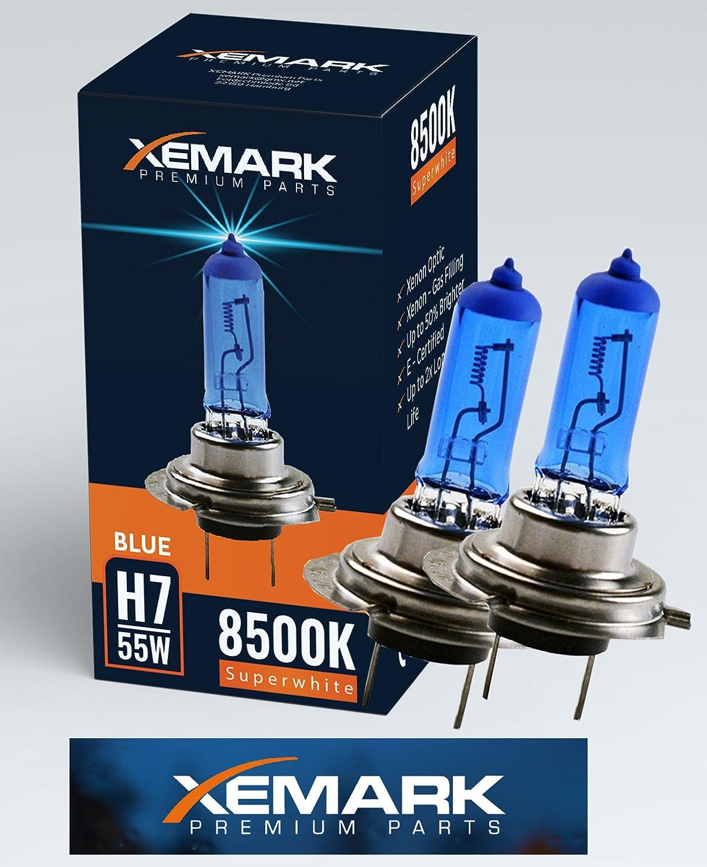 Bombillas hal/ógenas de xen/ón XEMARK H7 55 W, 12 V, 2 unidades color azul y blanco