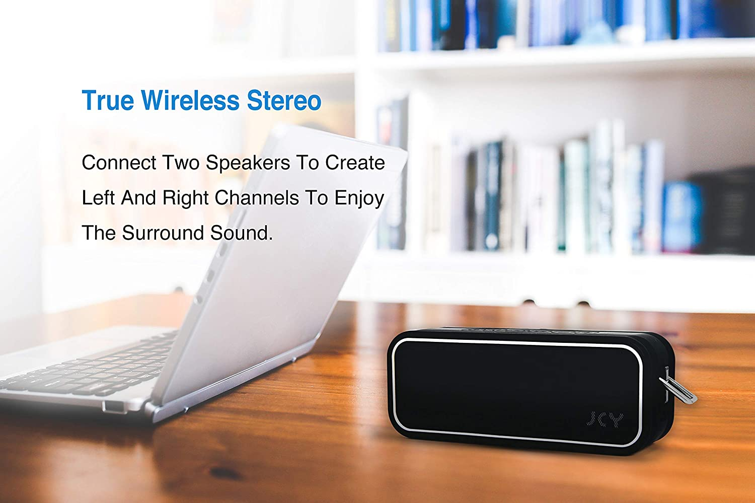 JCY Waterproof Bluetooth Speaker Outdoor Wireless Speaker with Rich Bass 3D Digital Sound with DSP Technology Built-in Mic /  Portable Bluetooth Speaker with IPX7 Waterproof