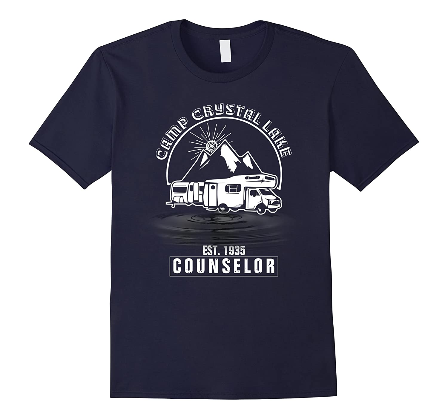 Camp Camping Crystal Lake Counselor Retro T shirt-T-Shirt