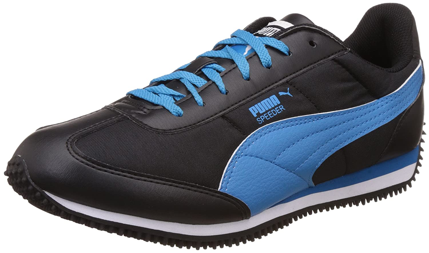 Black and Blue Aster Sneakers