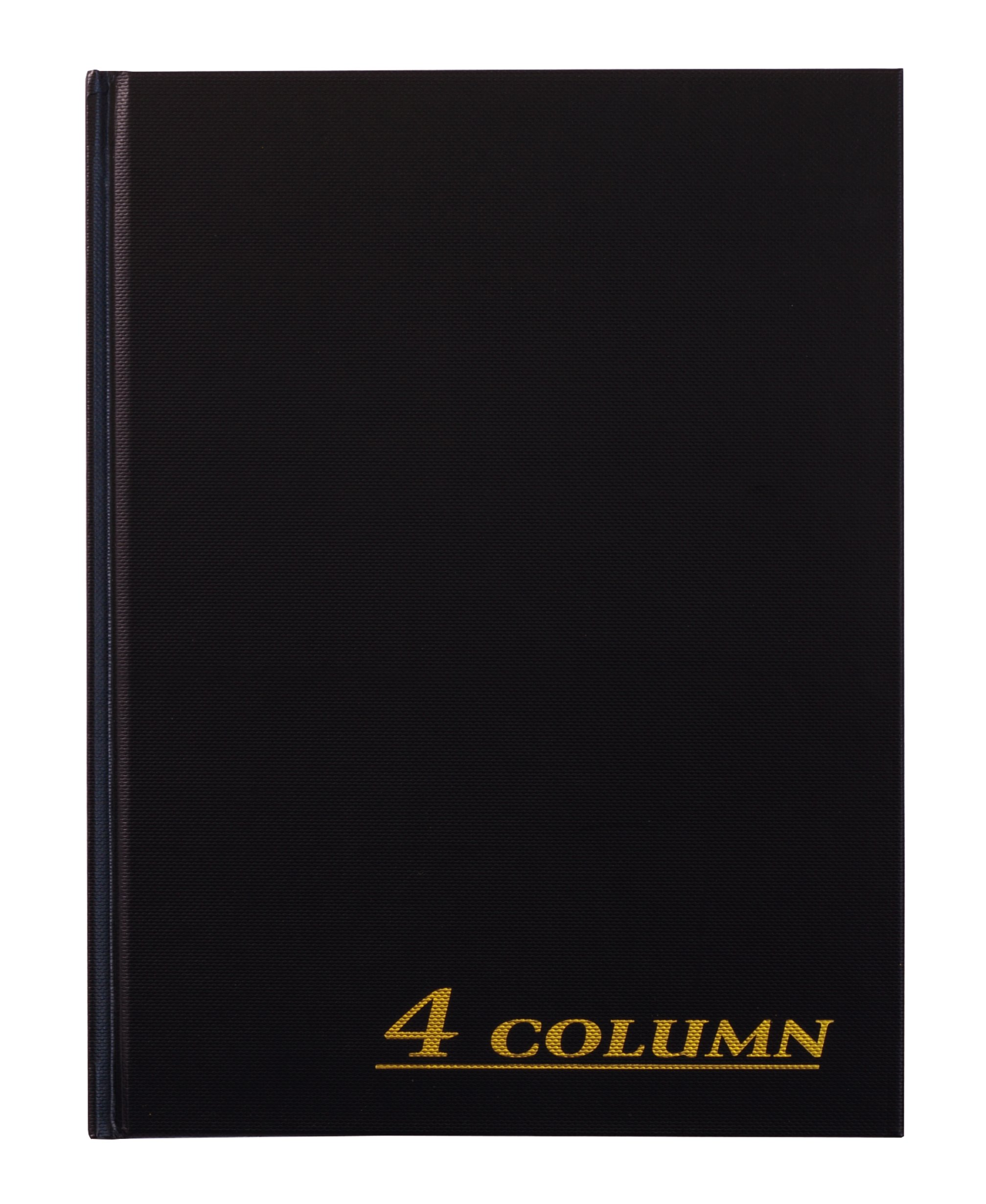 Adams Account Book, 4-Column, Black Cloth Cover, 9.25 x 7 Inches, 80 Pages Per Book (ARB8004M)