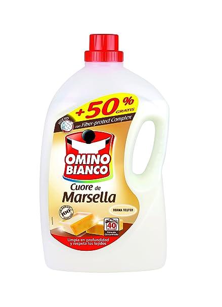 Omino Bianco Detergente Liquido Cuero de Marsella: Amazon.es ...
