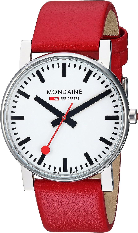 Mondaine Men s A660.30344.11SBC Evo Gents 38 Leather Band Watch