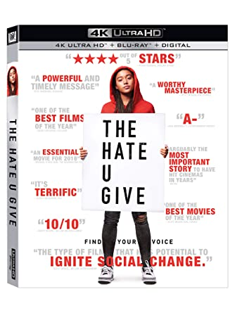 Amazoncom The Hate U Give Blu Ray Russell Hornsby Regina Hall