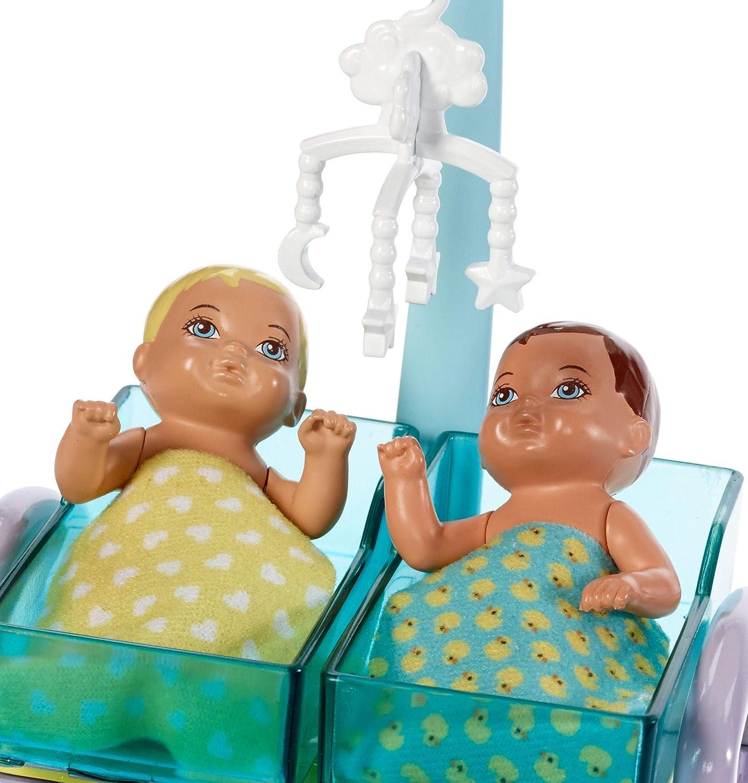 Barbie Métiers coffret poupée Pédiatre blonde avec cabinet médical DVG10 Mattel deux bébés et accessoires jouet pour enfant