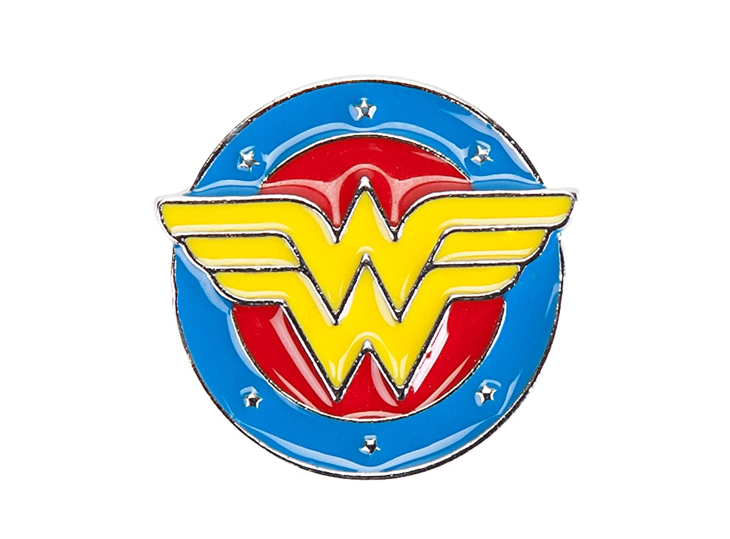DC Comics Wonder Woman Logo Molded Enamel Lapel Pin Concept One EMDC8068AL