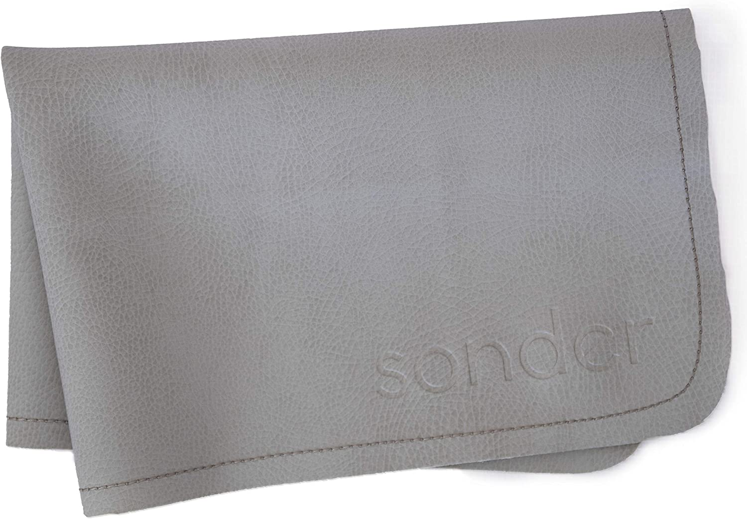 """SONDER Leather Baby Changing Mat - Multipurpose Portable Waterproof Diaper Pad - Compact for Travel - Deluxe Leather Diaper Changer - Size 14"""" by 22"""""""