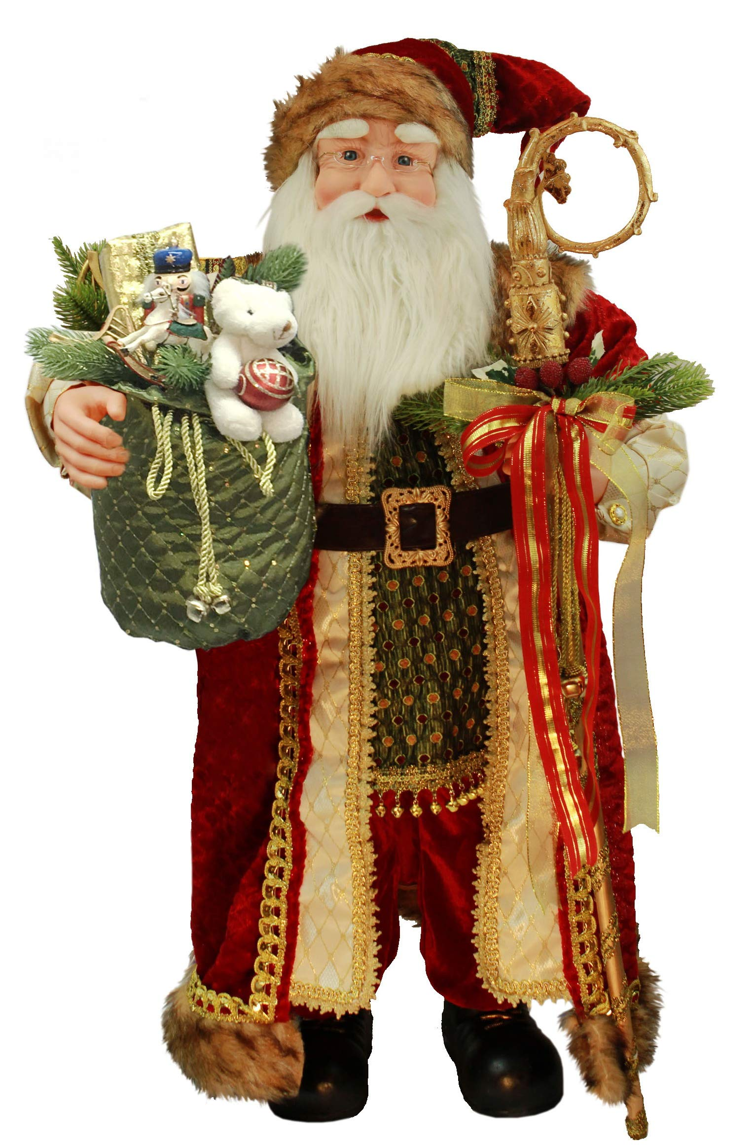 Windy Hill Collection 36'' Inch Standing Grand Santa Claus Christmas Figurine Figure Decoration 53603