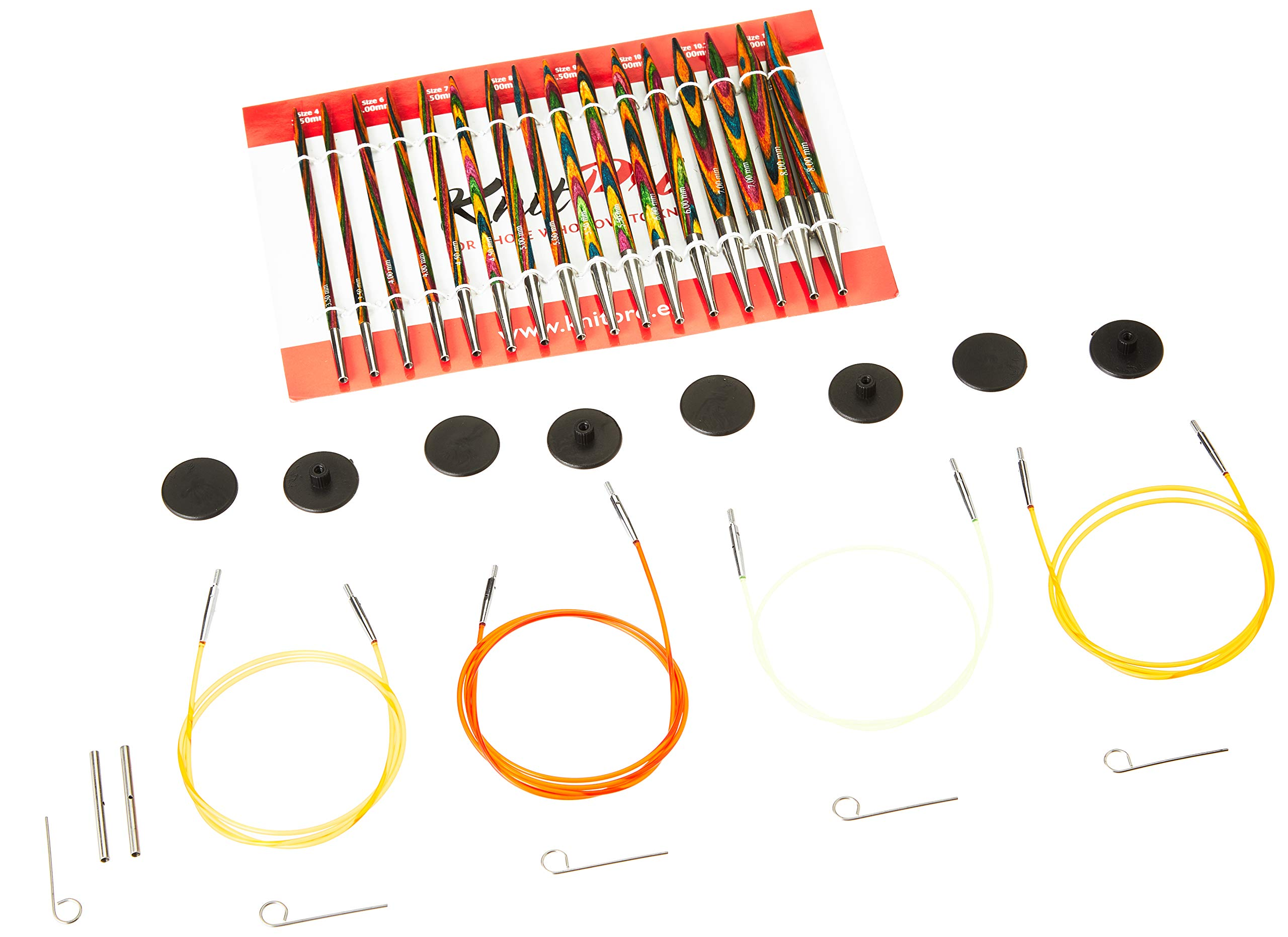Knit Pro Symfonie Interchangeable Needle Deluxe Set, Multi-Color