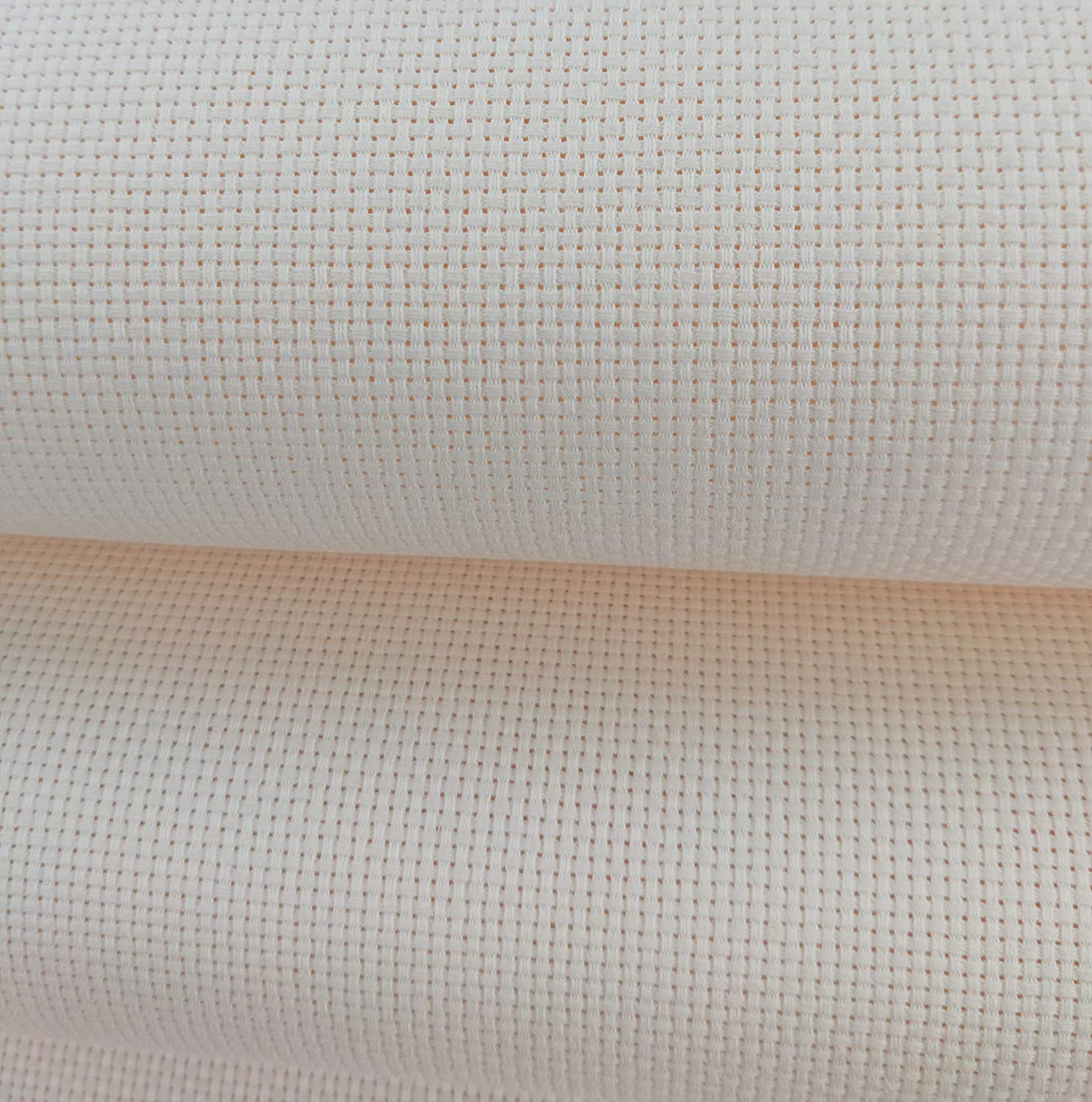 Beige Cream 19 x 28 11CT Counted Cotton Aida Cloth Cross Stitch Fabric