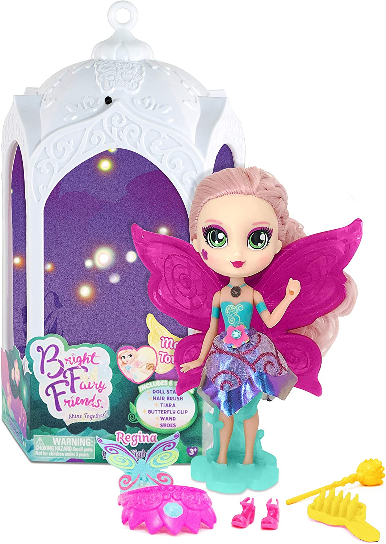 Mu/ñeca Queen Light Regina con Luces m/ágicas Accesorios y Farol Bright Fairy Friends Hada BFF Reina