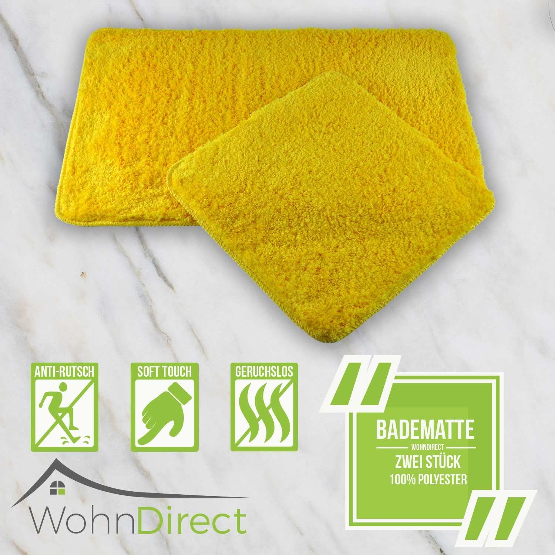 45 x 45 cm WohnDirect Tappetino da Bagno Beige /• Antiscivolo /& Lavabile /• Si asciuga Rapidamente /• Moderno /• in Microfibra /• Morbido ed Elastico /• U