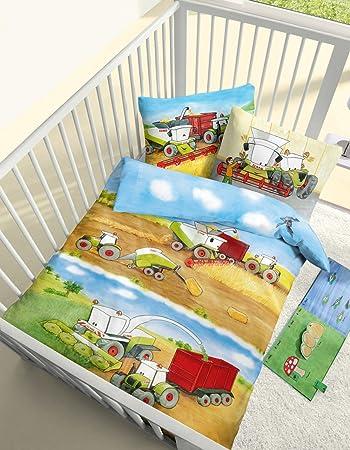 Dobnig Baby Biber Bettwäsche Erntezeit In Bunt 100x135 40x60 Cm