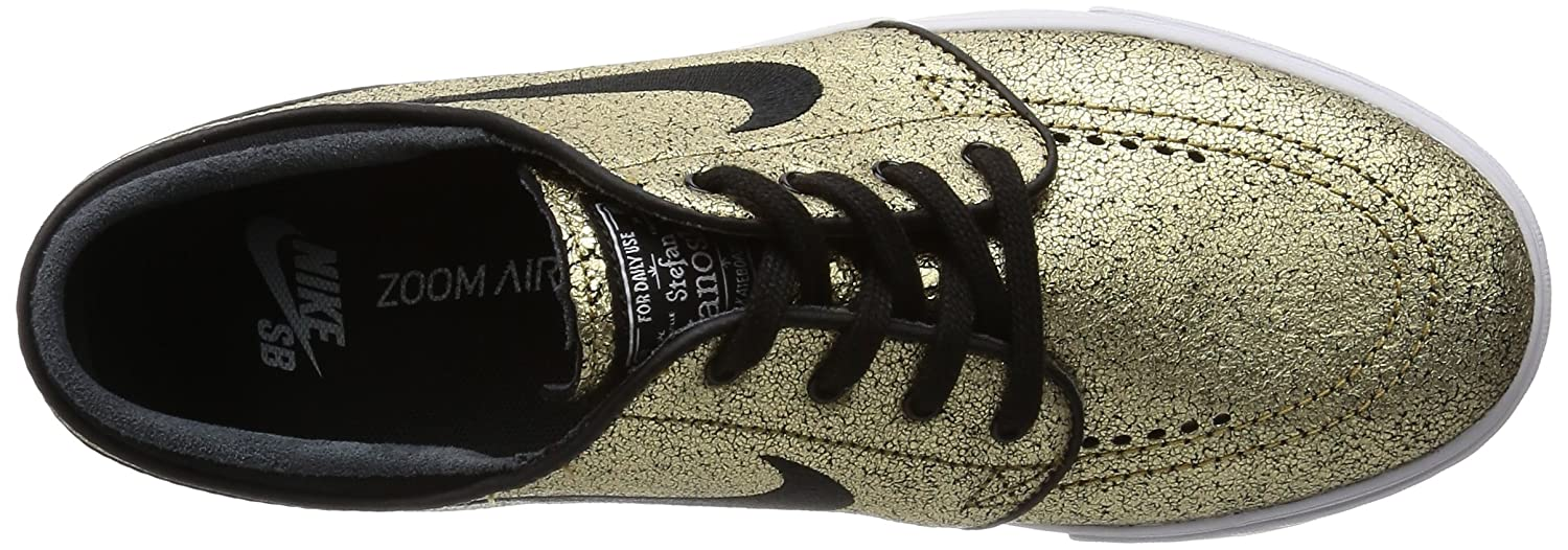 sports shoes 8bac5 66005 Amazon.com   Nike SB Zoom Stefan Janoski Leather Metallic Gold White Gum  Light Brown Black Skate Shoes-Men 9.5, Women 11.0   Skateboarding