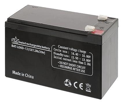 HQ BAT-LEAD-12 - Batería/Pila recargable, Universal, Plomo-ácido, Negro, 10.5 x 16 x 7 cm: Amazon.es: Electrónica