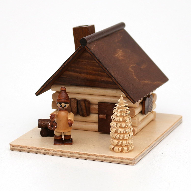 Dekohelden24 Encens Niche avec bloc de Ringel Arbre et d'hiver Figurine, fabriqué en Allemagne, L/B/H 13x 8x 11cm Mond