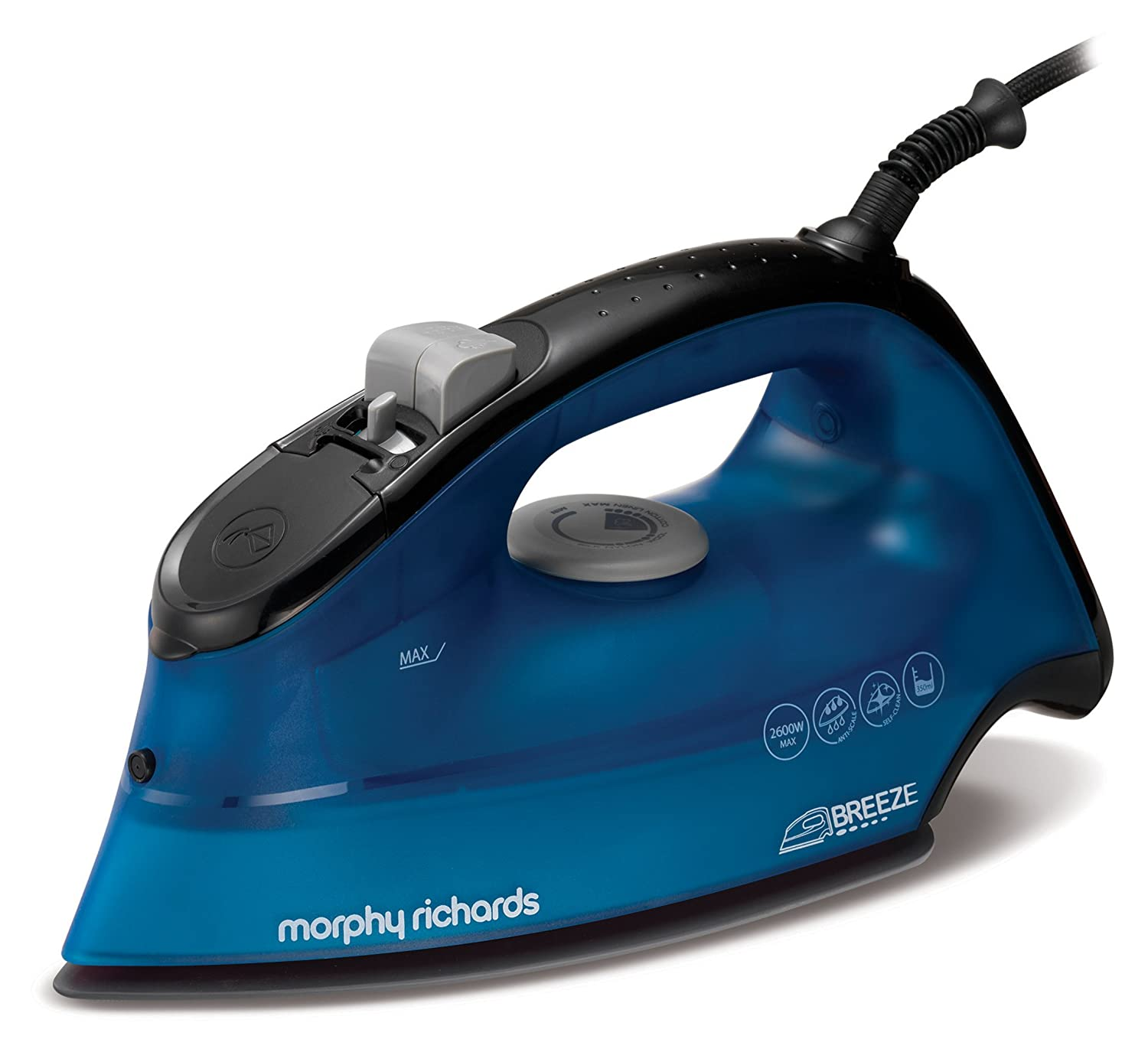 Morphy Richards 300273 Breeze Steam Iron, 2400 W, Blue/White [Energy Class A]