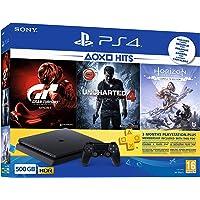 Sony PlayStation 4 500GB E Konsol + Horizon Zero Dawn Complete Ed. + GT Sport + Uncharted 4 + 3 Aylık PS Plus Üyelik (Sony Eurasia Garantili)