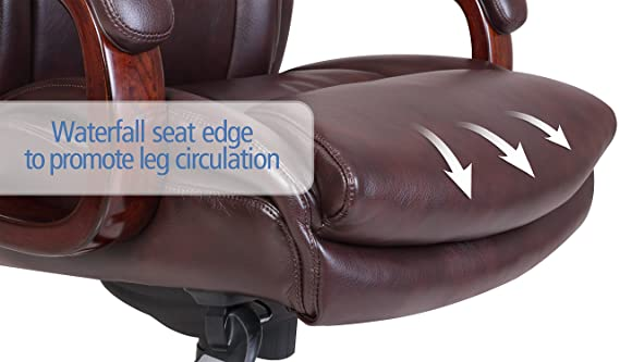 Amazon.com: La Z Boy Edmonton Bonded Leather Office Chair, Coffee ...
