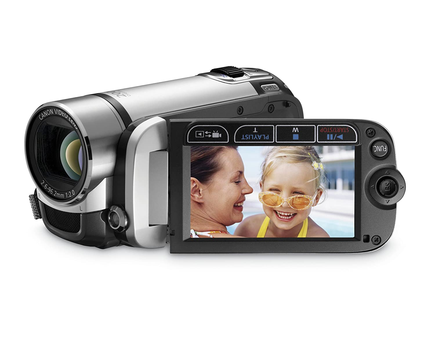 Amazon.com : Canon FS200 Flash Memory Camcorder w/41x Advanced Zoom (Misty  Silver) - 2009 MODEL (Discontinued by Manufacturer) : Used Camcorder Canon  ...