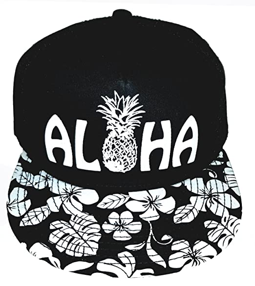 Amazon.com  Aloha Floral Print Pineapple Hawaii Snapback Mesh ... 7b82276b10ad