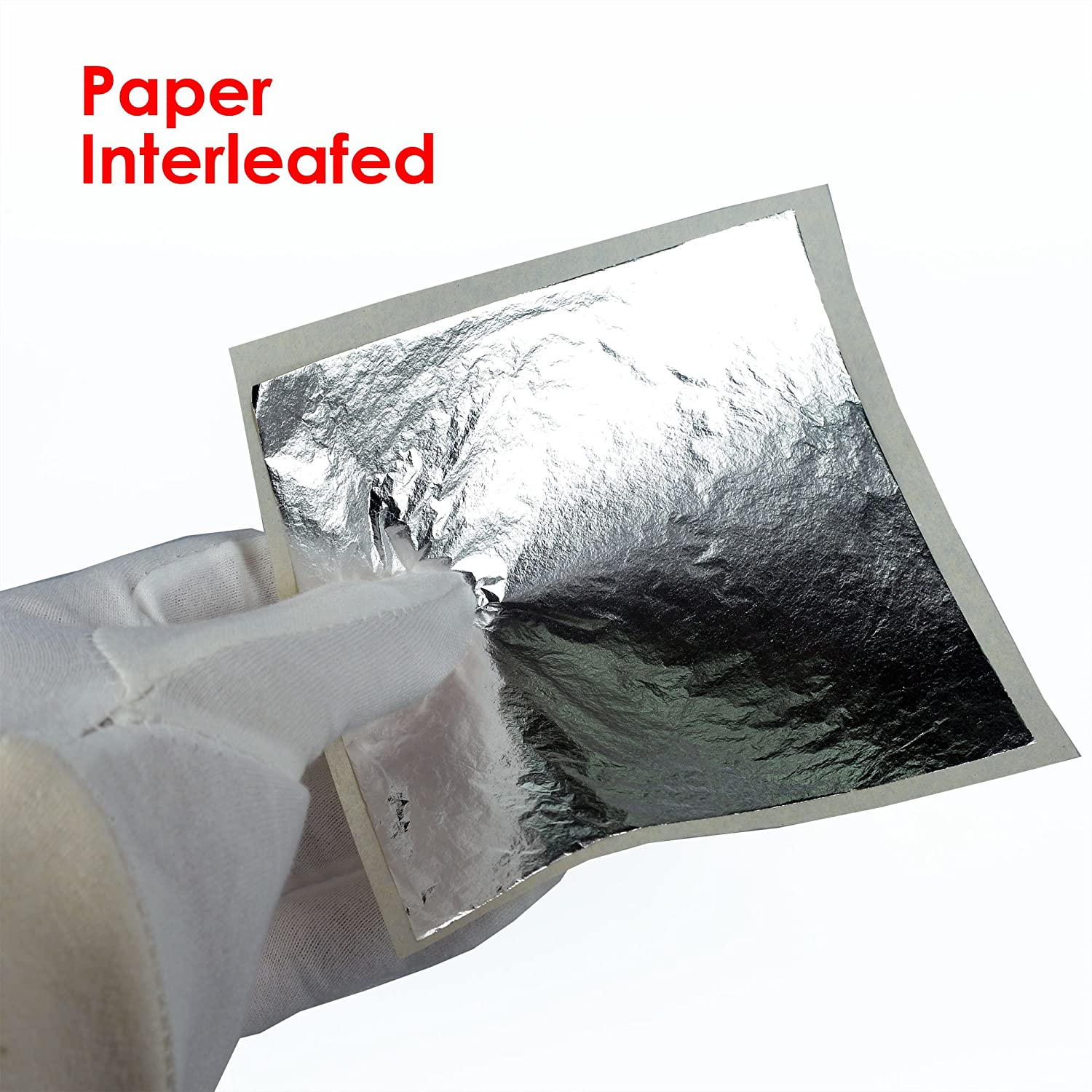 Imitation Silver Leaf 1000 Sheets,16cm Interleaved