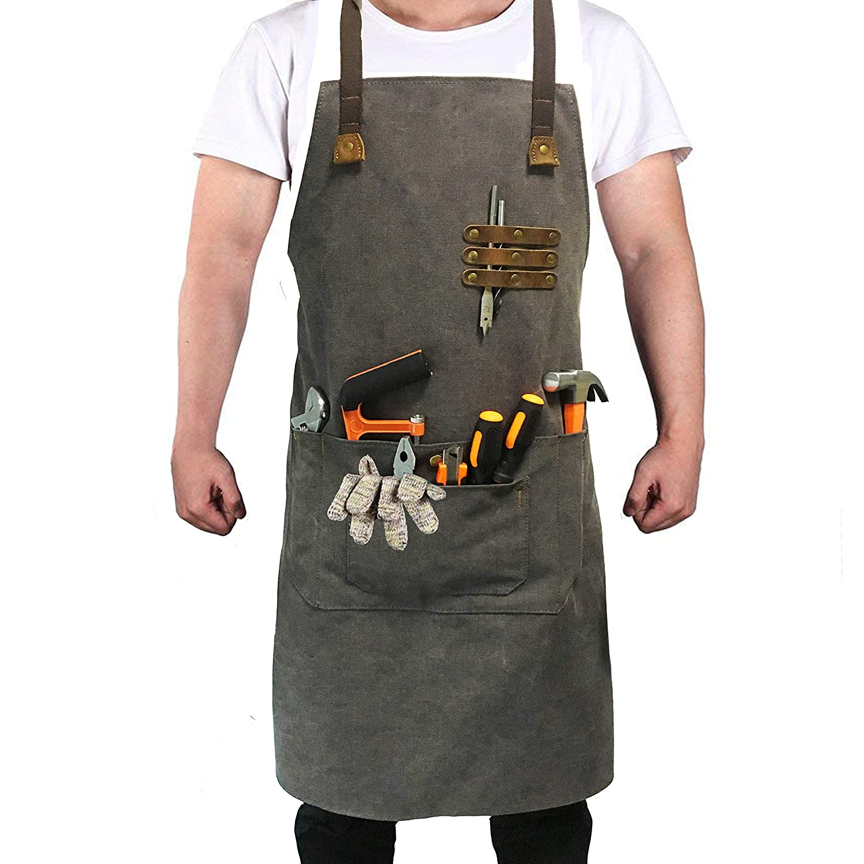 Thick artist Canvas Apron chef barber aprons painter artists carpenter Chef apron for women kitchen industrial apron for men