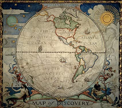 National Geographic World Map Murals.Wyeth S Western Hemisphere World Map Wallpaper Wall Mural Self
