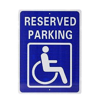 Amazon.com: Kichwit - Señal de aparcamiento con texto en ...