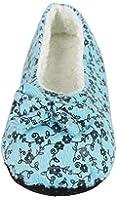 J.Ann Womens Sherpa lined Slipper Socks with Non-Slip Bottom, Foot Size:23-24cm.