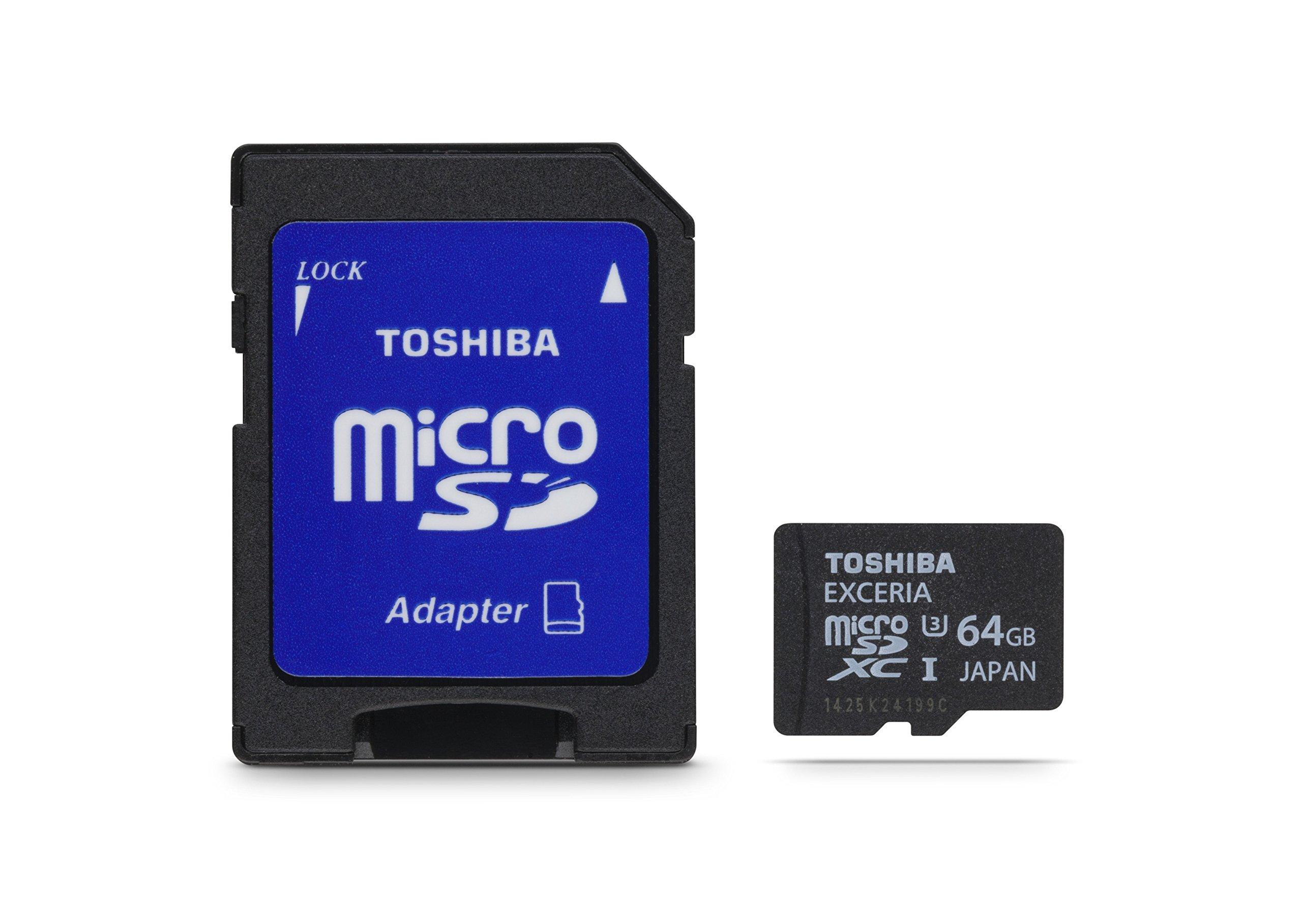 Toshiba Exceria 64GB Micro SD Memory Cards UHS-I U3 (PFM064U-1EUS)