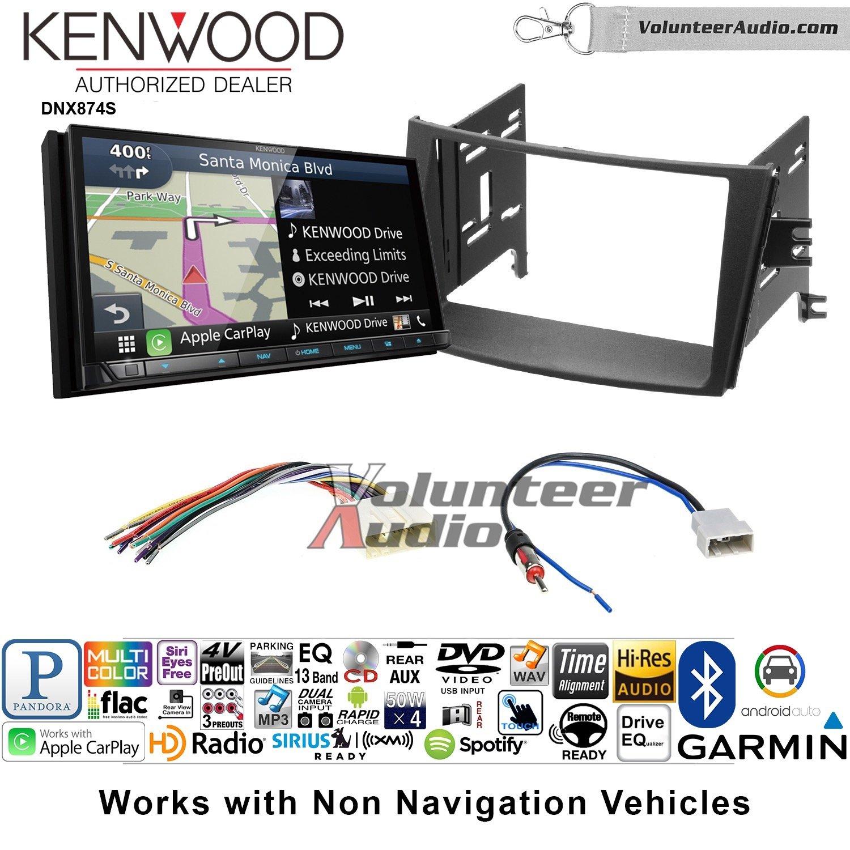 ボランティアオーディオKenwood dnx874sダブルDINラジオインストールキットwith GPSナビゲーションApple CarPlay Android自動Fits 2010 – 2014 Subaru Legacy, Outback B07BZ2NL6X