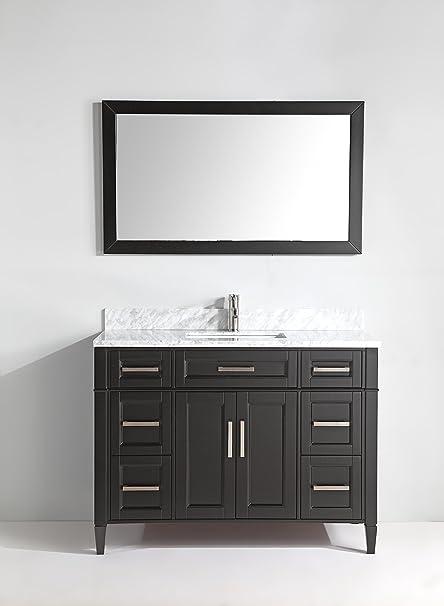 Brilliant Vanity Art 48 Inch Bathroom Vanity Set Carrara Marble Stone Free Mirror Va2048 E Download Free Architecture Designs Scobabritishbridgeorg