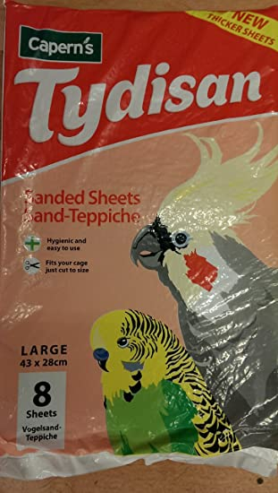 Tydisan Sanded Caged Bird Sheets Sand Bedding 4 Sizes Cage Hygiene Cut To Size Pet Supplies Other Bird Supplies