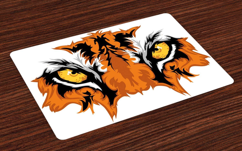 ABAKUHAUS Ojo Salvamantel Set de 4 Unidades, Tigre de Bengala ...