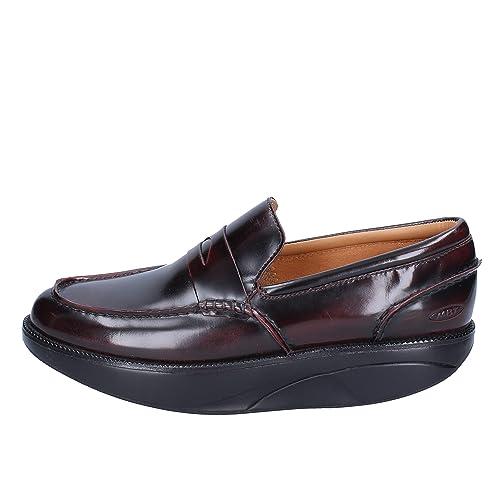 MBT Mocasines Hombre Cuero Brillante borgoña 39 EU: Amazon.es: Zapatos y complementos