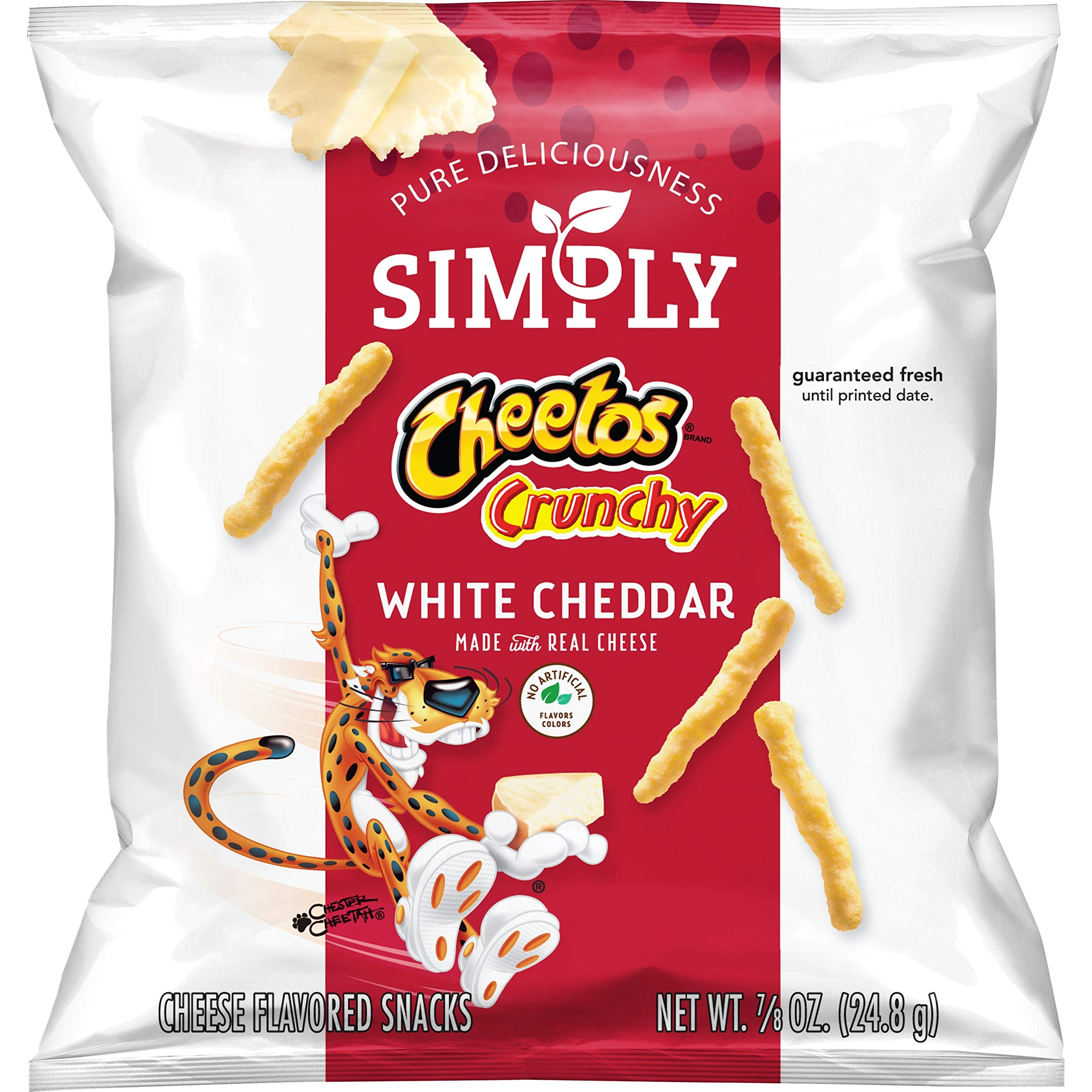 Simply Cheetos Crunchy White Cheddar, 0.87 Ounce, Pack of 36 by Simply