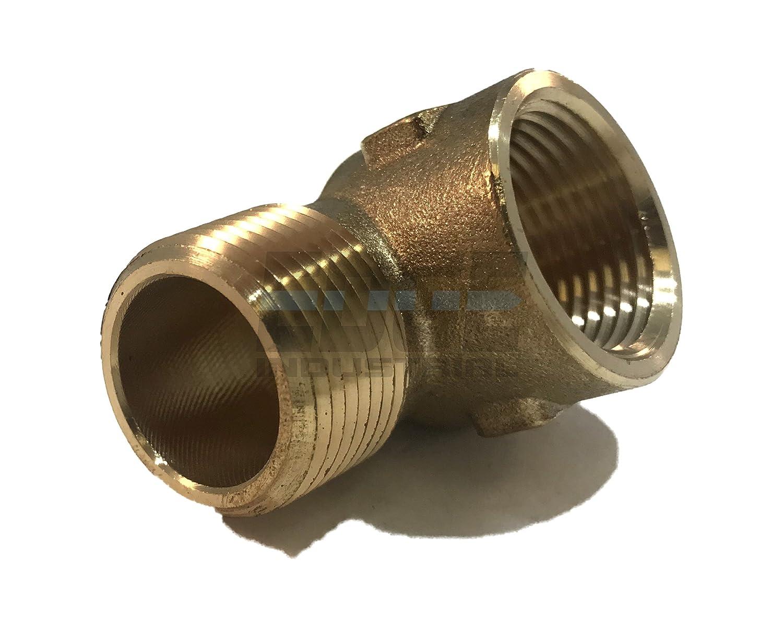 EDGE INDUSTRIAL Forged Brass 90 Degree Street Elbow 3//4 Male NPT X 3//4 Female NPT Fuel//AIR// Water//Oil// Gas WOG