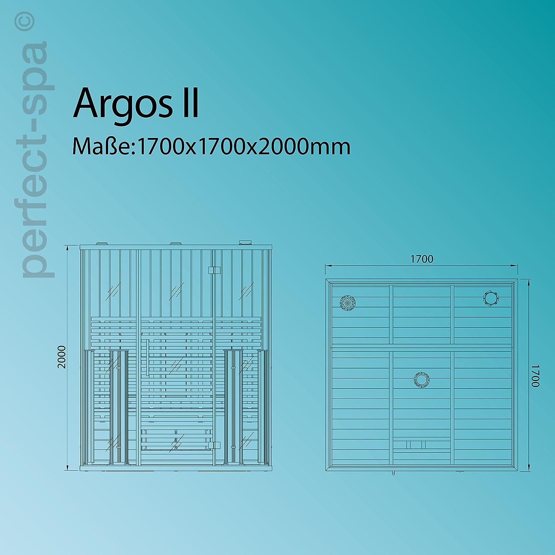 Argos II Infrared Sauna Infrared Sauna Sauna Cabin For 3 people ...