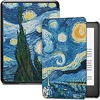 Capa para Kindle 10a geração (aparelho com iluminação embutida) - rígida - sistema de hibernação - Noite Estrelada (van…
