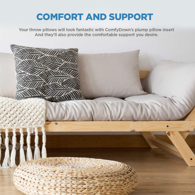Amazon.com: Comfydown Inserto de almohada redondo, 95% pluma ...