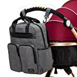 Diaper Bag Backpack for Mom or Dad with Stroller
